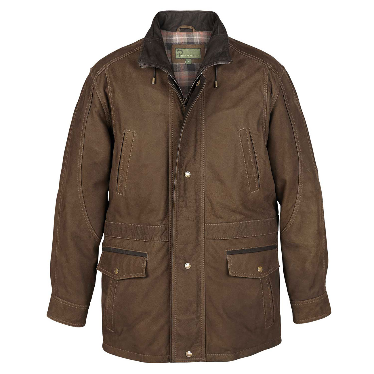 Mens Leather Coat Green Walker