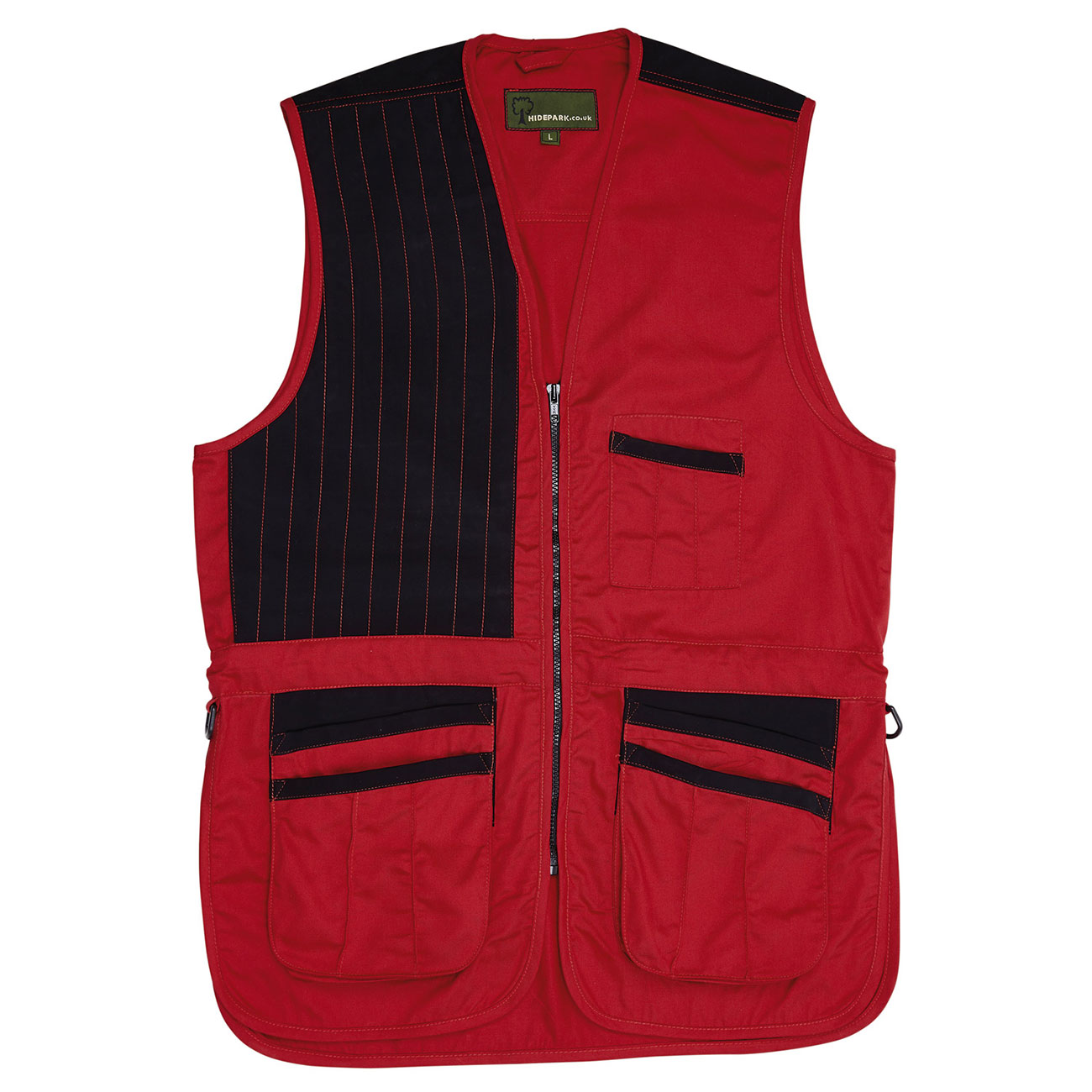 Cotton Canvas Skeet Vest Red SK