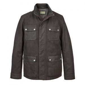 Gent Leather Wax look jacket Black Brett