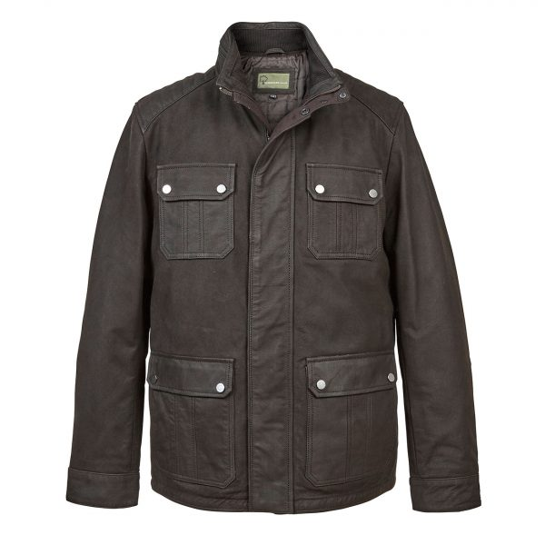 Gent-Leather-Wax-look-jacket-Black-Brett
