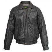 Gents  Grey Leather blouson coat