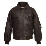 gents b brown leather jacket