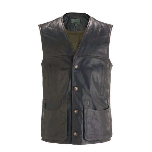 Gents Brown Shooting vest GO10