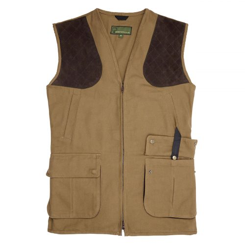 Gents Canvas Shooting Vest  Tan