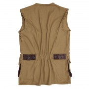 Gents Canvas Shooting Vest  Tan  Back