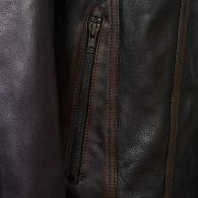 Gents Elvis black antique leather jacket pocket detail