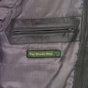 Gents Grey leather blouson insode zip fasten