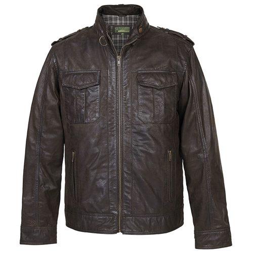 Gents Jack Brown Leather Jacket