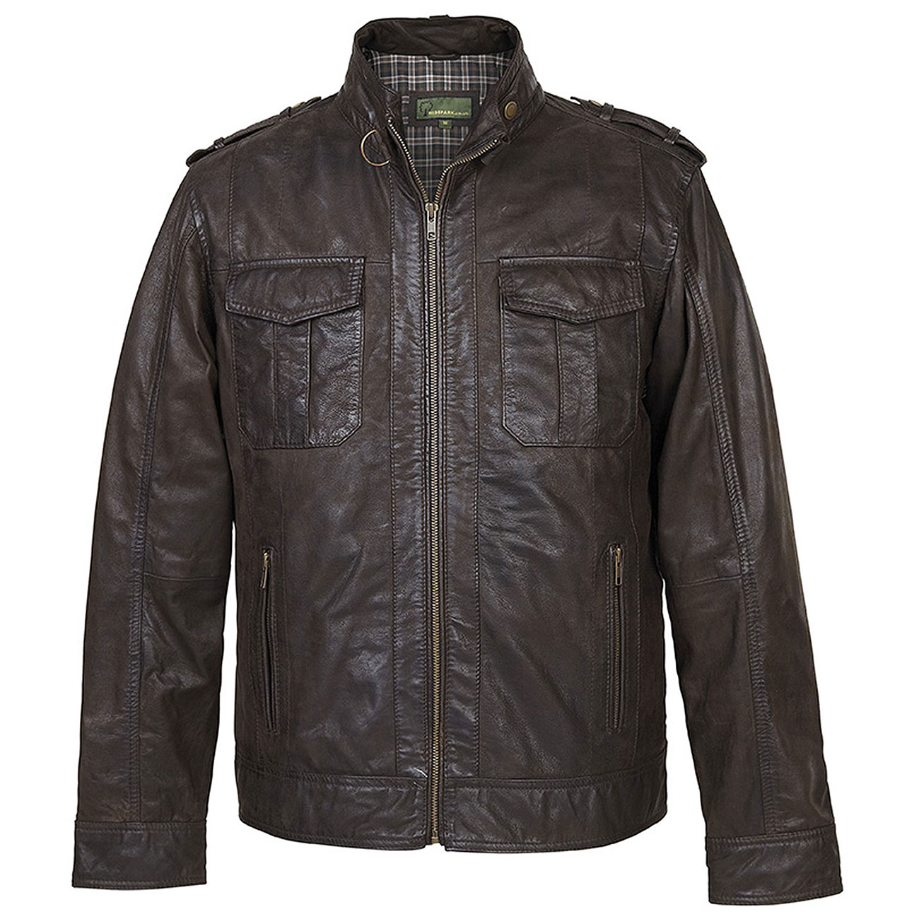 Gents Jack Brown Leather Jacket