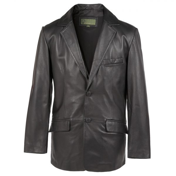 Gents-Leather-2-button-blazer-black-728