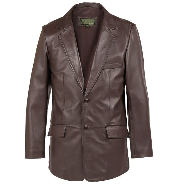 Gents-Leather-2-button-blazer-brown-728