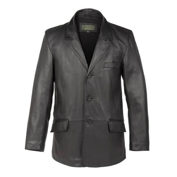 Gents-Leather-3-button-Blazer-Black-731