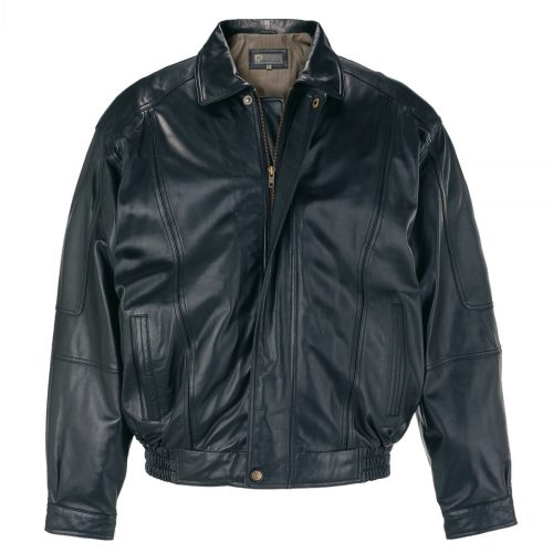 Gents Leather Blouson jacket Black