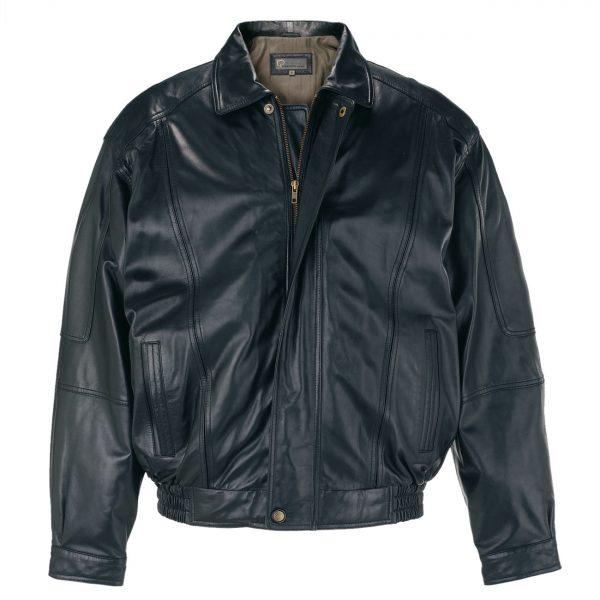 Gents-Leather-Blouson-jacket-Black-7023