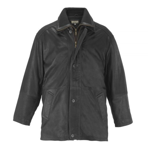 Gents Leather Coat Black Tom