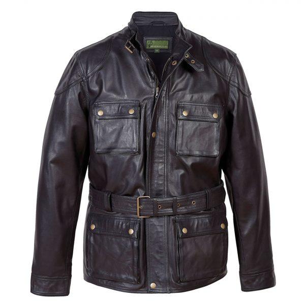 Gents-Leather-Coat-Black-Trent