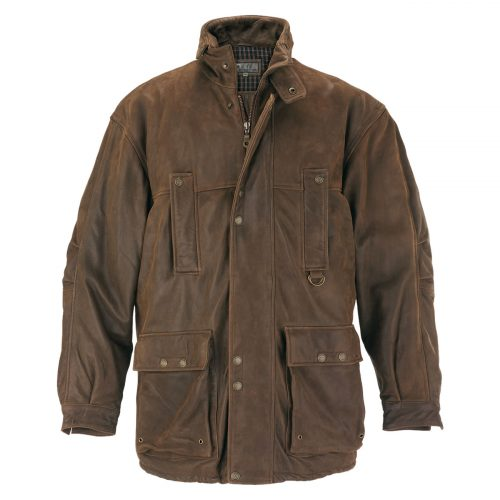 Shop <strong>Mens Hunter</strong> Leather Coat
