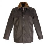 Gents Leather Coat Brown Tim