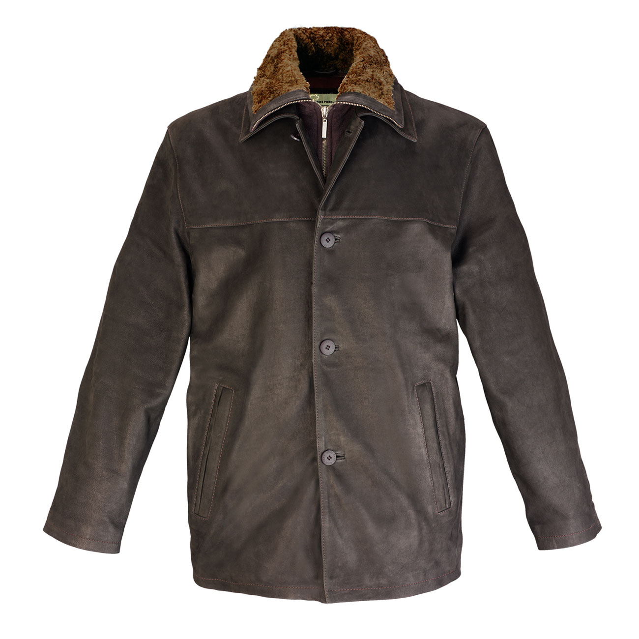 Mens Leather Button Jackets