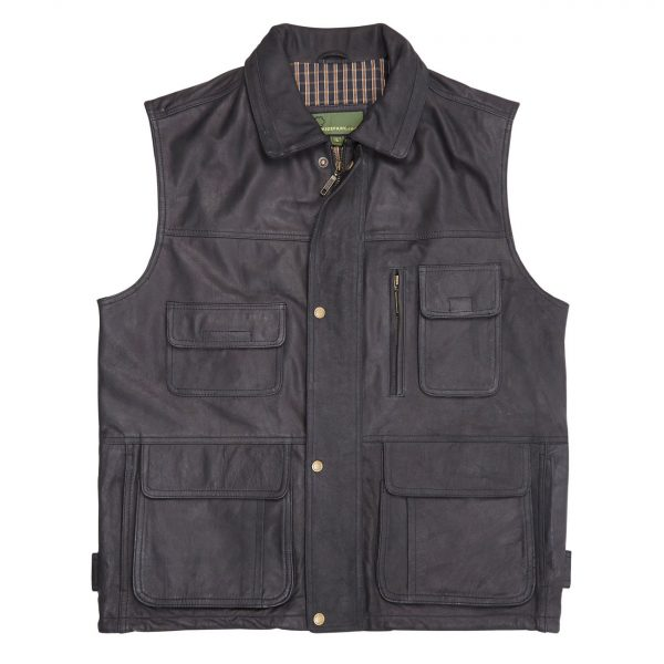 Gents-Leather-Gilet–Black-Alf