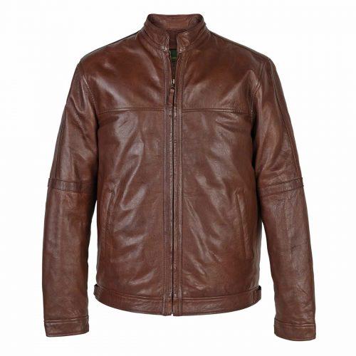 Gents Leather Jacekt Rust John