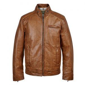 Gents Leather Jacekt Tan Rik