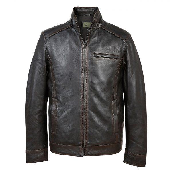 David: Men's Black Antique Leather Jacket