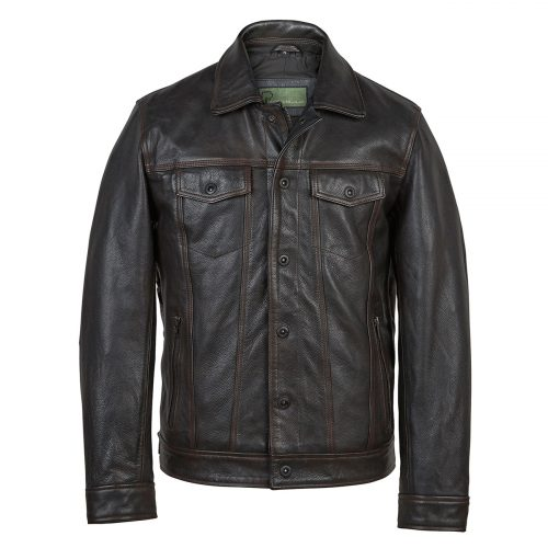 Shop <strong>Mens Jeans</strong> style Leather Jacket