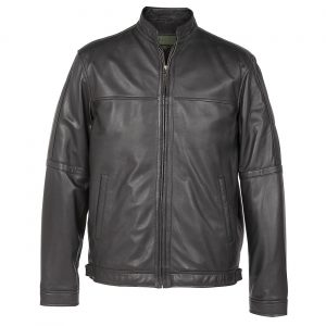 gents leather jacket black john