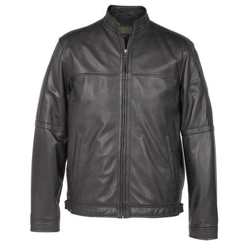 gents leather jacket black john