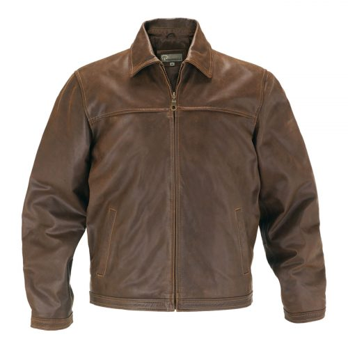 Gents Leather Jacket Brown