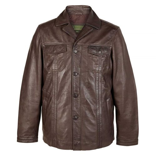 Gents Leather Jacket Brown Adam