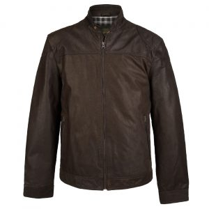 Gents Leather Jacket Brown Brando