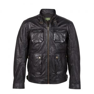 Gents Leather Jacket Brown Franco