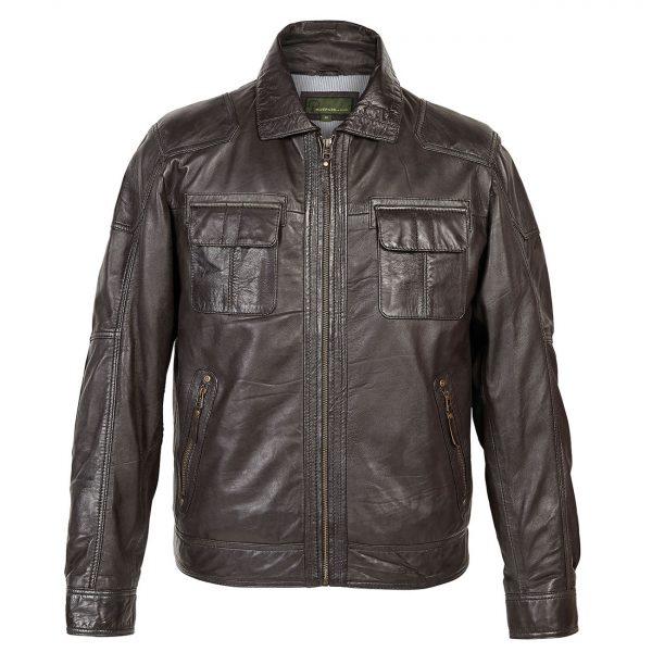 Gents-Leather-Jacket-Brown-Sam