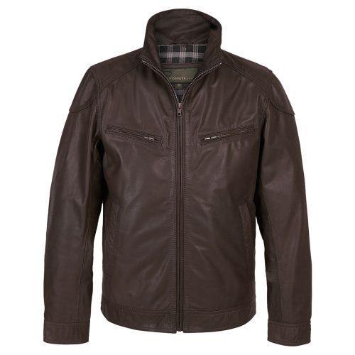 Gents Leather Jacket Mens Matt Brown