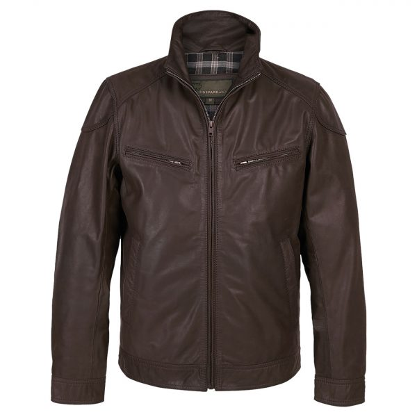 Gents-Leather-Jacket-Mens-Matt-Brown