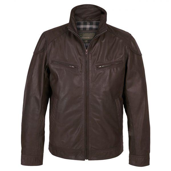 Gents-Leather-Jacket-Mens-Matt-Brown
