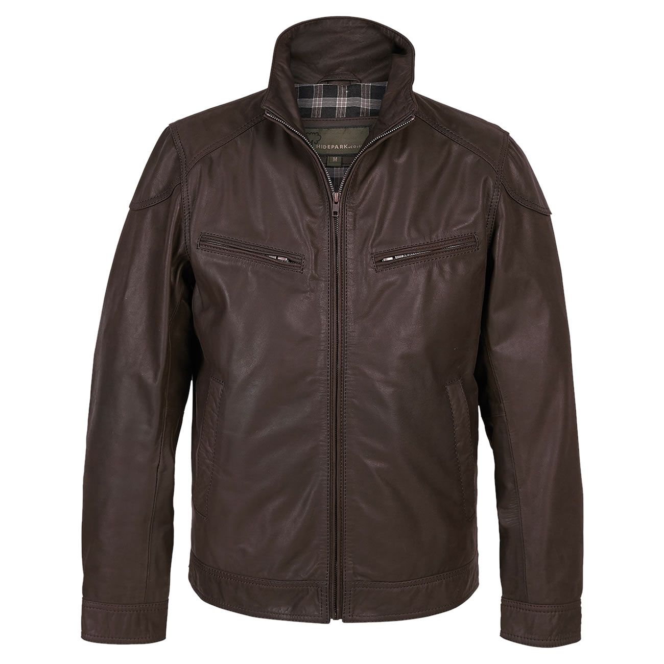 Gents Leather Jacket Mens Matt Brown