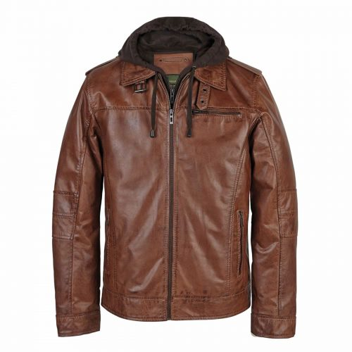 Gents Leather Jacket Rust Mason
