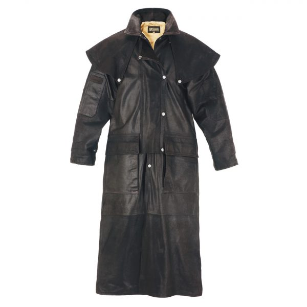 Gents-Leather-Long-Riding-Coat-Brown