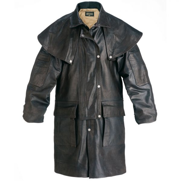 Gents-Leather-Short-Riding-Coat-Brown