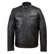 Budd: Men's Black Antique Leather Jacket