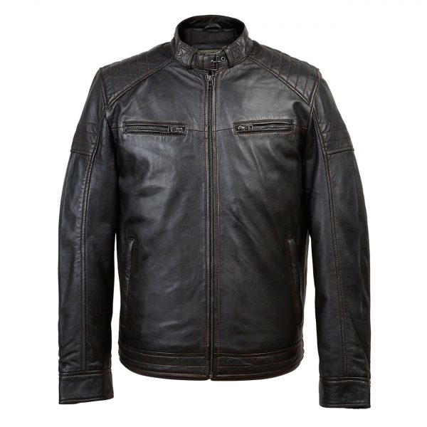 Gents-Leather-jacket-Black-Budd