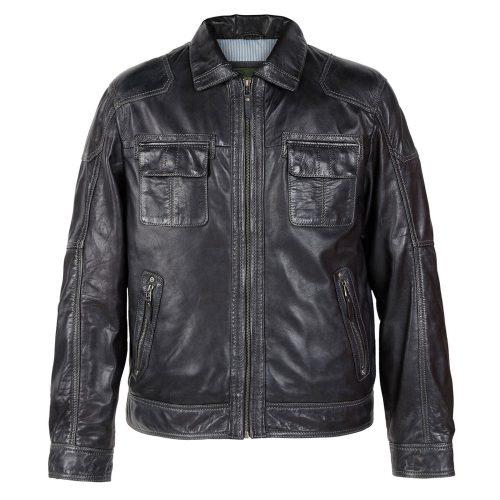 Gents Leather jacket Black Sam