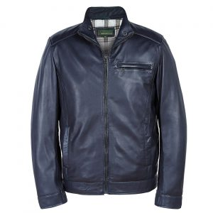 Men's Navy Blue Leather Jackets