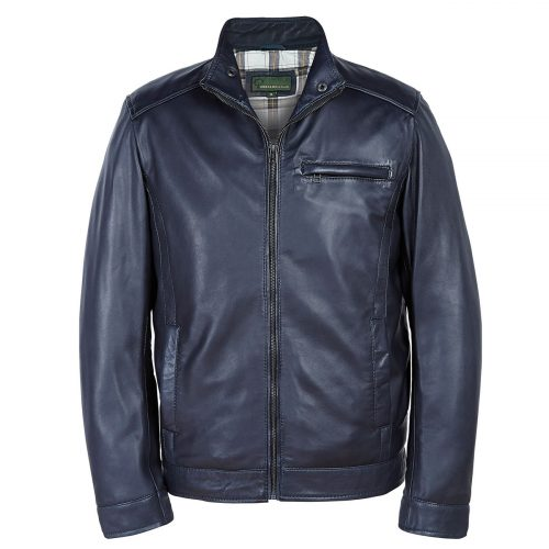 Gents Leather jacket Navy Rik
