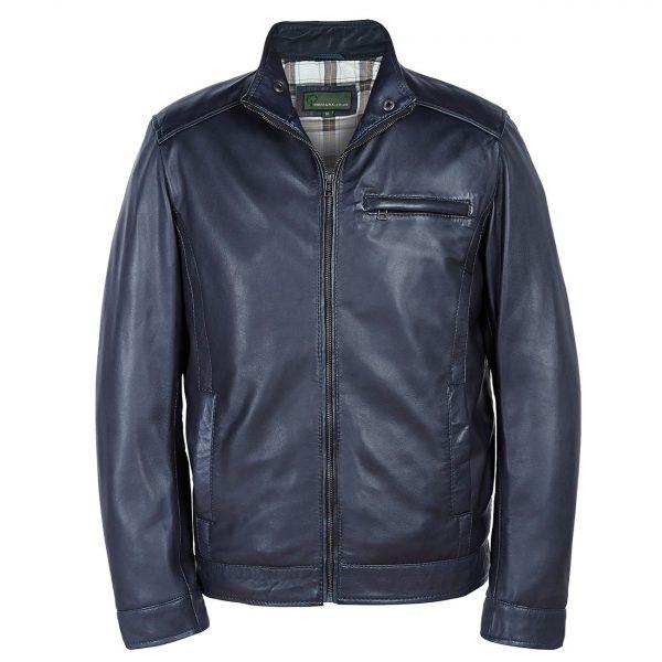 Gents-Leather-jacket-Navy-Rik