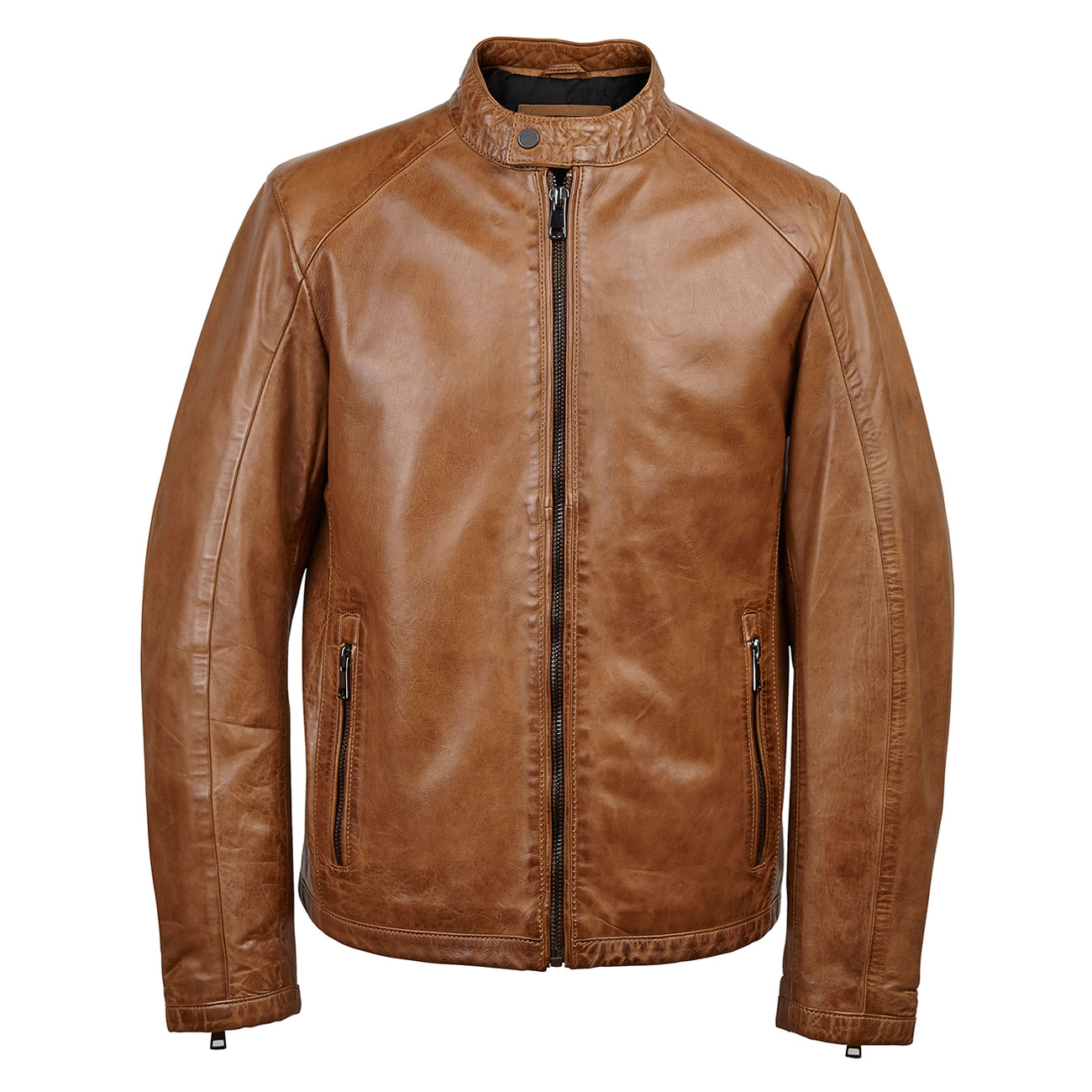 Gents Leather jacket Tan Luke