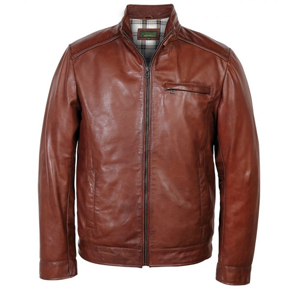 Gents-Leather-jacket-chestnut-Rik
